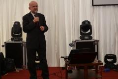 Mgr inż. Eugeniusz Tadel z Małopolskiego Ośrodka Doradztwa Rolniczego przedstawił tendencje w rozwoju opryskiwaczy polowych.