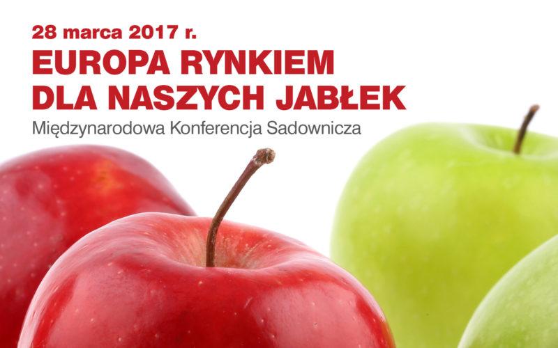 """Międzynarodowa konferencja sadownicza p.t. """"Europa rynkiem dla naszych jabłek""""."""